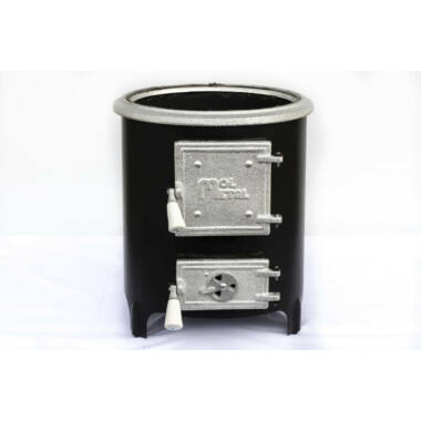 Focar pentru boiler de baie cu usa fonta