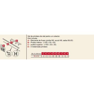 Set fixare HelioPlan SCV 1.9 acop incl 1 colector 0020174050