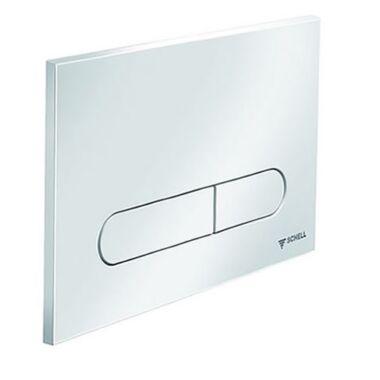 Buton de actionare WC, Montus, Linear, 030680599, rotund, alb