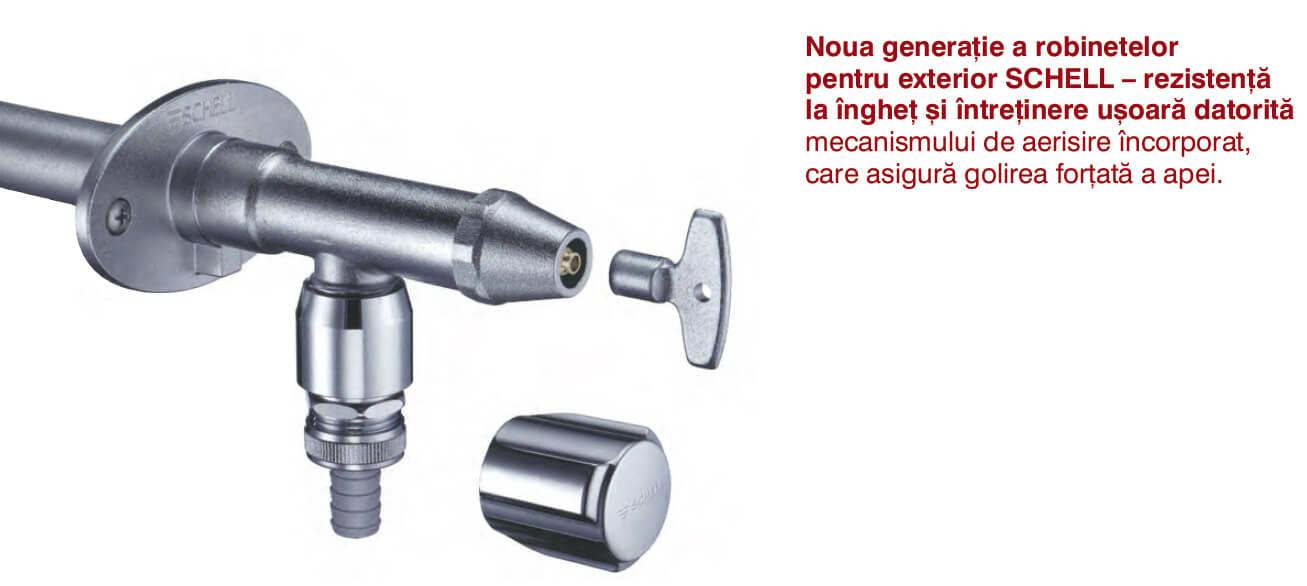 Noua generatie a robinetelor pentru exterior SCHELL