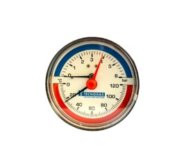 "Termomanometru radial 1/2"" 6bar cadran 80mm TECNOGAS R01570"