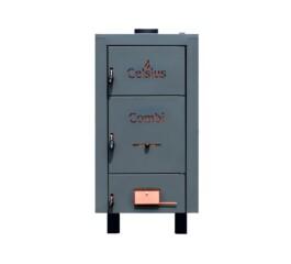 Cazan combi din tabla otel cu posibilitate de ardere peleti, CELSIUS, 50-56 kW