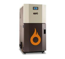 Cazan compact pe peleti gata de instalare, KEPO, 35 kW, curatare manuala a arzatorului