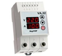 Releu protectie tensiune - amperaj VA-32A