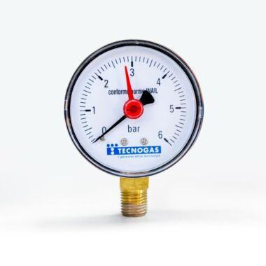 Manometru radial 1/4'' 0-6bar cadran 60mm TECNOGAS R01582