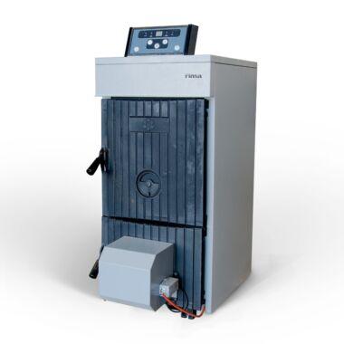 Cazan pe lemn din fonta RIMA M-MAX, 27 kW, 5 elementi, cu ventilator