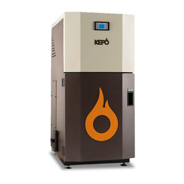 Cazan compact pe peleti gata de instalare, KEPO, 25 kW, curatare manuala a arzatorului