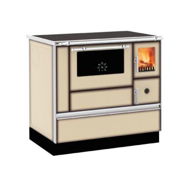 Soba de gatit cu plita si cuptor, Alfa Plam, Dominant 90, 7 kW, cappuccino, stanga