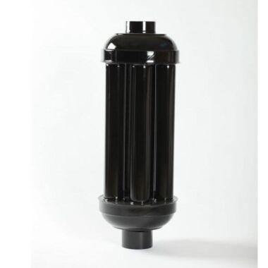 Burlan radiator (recuperator caldura)  FI 150 mm lung negru