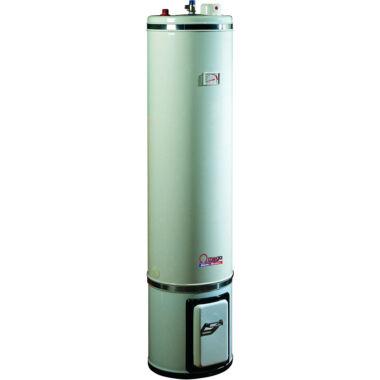 Boiler pe lemn cu focar + termoelectric cu serpentina si rezistenta electrica, rezervor izolat, Omega, SZ0080C2V, 80 l