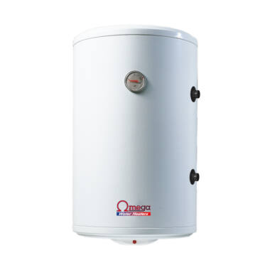 Boiler termoelectric cu serpentina si rezistenta electrica Omega, ST0120C2V, 120 l, rezervor emailat