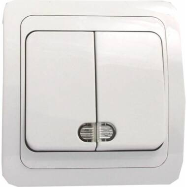 Intrerupator dublu cu LED ST ECO 05212