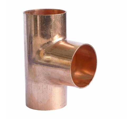 Teu egal cupru, 18-18-18 mm, pentru imbinare prin sudura, cu filet interior-interior, HeizTech
