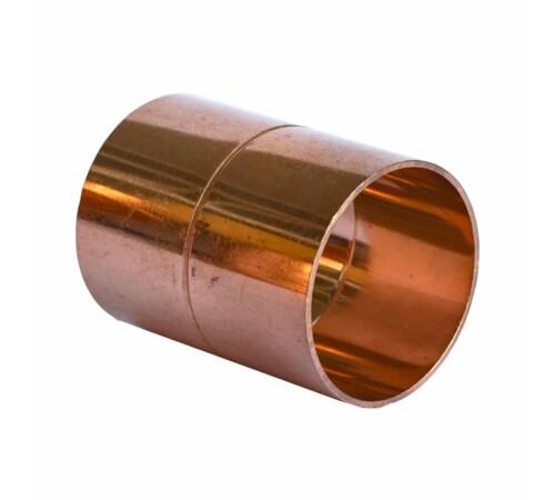 Mufa 18 mm din cupru pentru imbinare prin sudura, cu filet interior-interior, HeizTech