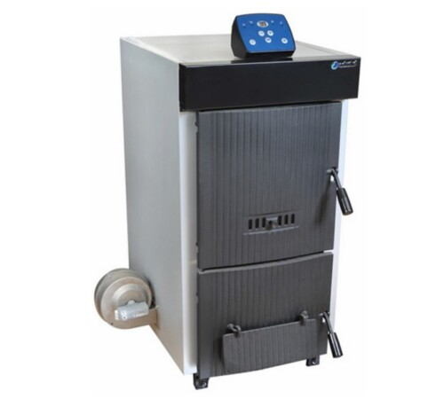 Cazan pe lemn din fonta Dunatech Plus, 40 kW, 6 elementi, cu ventilator