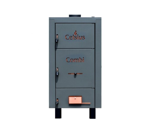 Cazan combi din tabla otel cu posibilitate de ardere peleti, CELSIUS, 40-43 kW