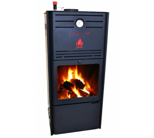 Termosemineu tip centrala Aqua Premium 30 kW, cu regulator tiraj, FM