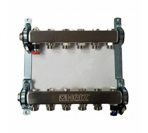 set-distribuitor-inox-compact-6-cai-pentru-incalzire-herz-1863406-cu-intrare-1-cu-iesiri-3/4