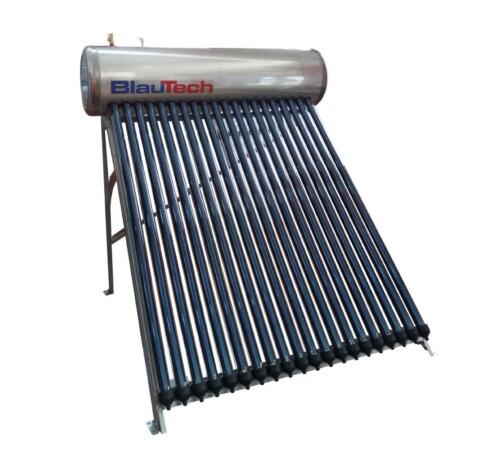 Panou solar cu 15 tuburi vidate pentru preparare apa calda menajera cu rezervor inox presurizat 125 litri BLAUTECH