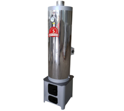 Ansamblu boiler inox lemn/electric 90l focar economic FM