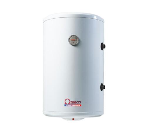Boiler termoelectric cu serpentina si rezistenta electrica Omega, ST0080C2V800, 80 l, rezervor emailat