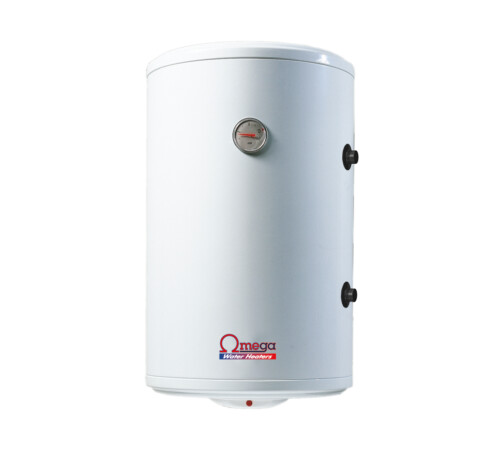 Boiler termoelectric cu serpentina si rezistenta electrica Omega, ST0120C2V800DX, 120 l, rezervor emailat, dreapta