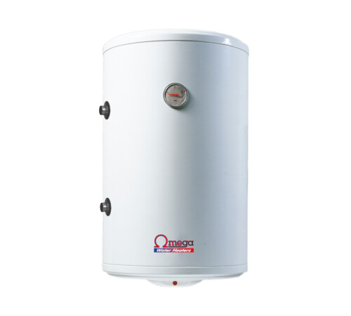 Boiler termoelectric cu serpentina si rezistenta electrica Omega, ST0080C2V800SX, 80 l, rezervor emailat, stanga