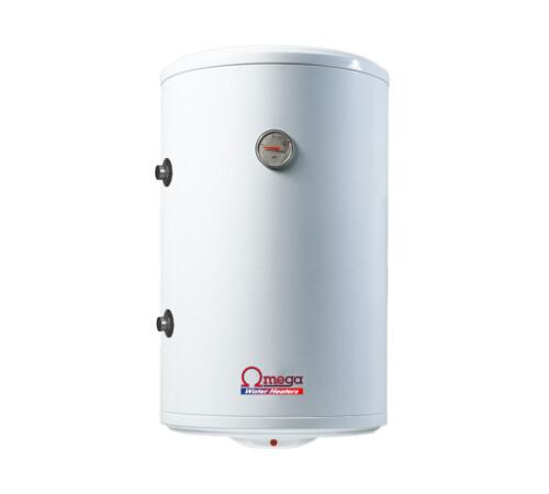 Boiler termoelectric cu serpentina si rezistenta electrica Omega, ST0120C2V800SX, 120 l, rezervor emailat, stanga