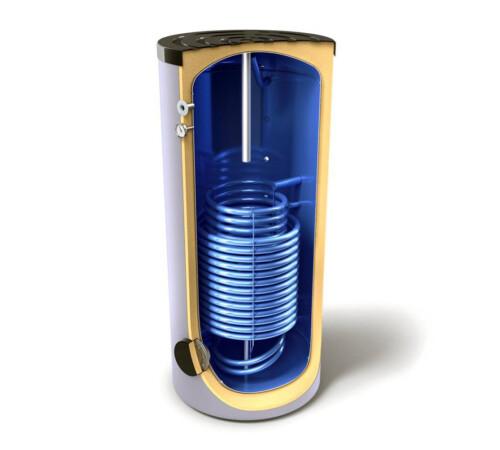 Boiler indirect cu 2 serpentine in paralel, 300 litri, izolat, Tesy
