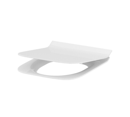 Capac WC subtire Crea rectangular duroplast, antibacterian, inchidere lenta, demontare rapida cu un buton CERSANIT K98-0178
