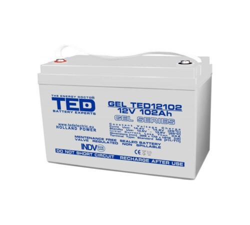 Acumulator stationar VRLA 12 V 102 Ah GEL M8 F12 TED Electric