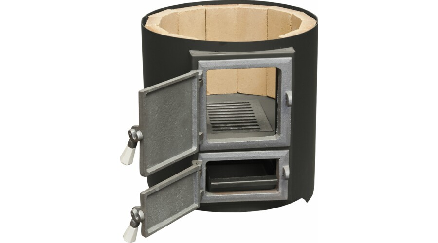 Boiler De Baie Pe Lemne Cu Focar Inox 120 L Din Tabla